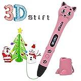 3D Stift Set für Kinder, 2 x 7.5M PLA Filament + 20 Seiten Schablonen für Kritzelei, Basteln,...