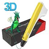3D Stift, Tecboss 3D Drucker Stift, 3D Druckstift mit 1.75 mm PLA Filament für Kinder Erwachsene,...