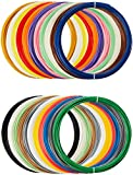 AmazonBasics - PLA 3D-Drucker Filament, 1,75 mm, 22 verschiedene Farben, 1.25 kg Gesamtgewicht