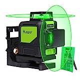 Huepar 902CG 2 x 360 Kreuzlinienlaser Grün, 360 Grad Linienlaser Selbstnivellierenden Laser Level...