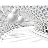 Fototapete 3D Abstrakt 352 x 250 cm Vlies Tapeten Wandtapete XXL Moderne Wanddeko Wohnzimmer...