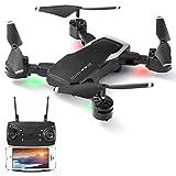 GEYUEYA Home Mini Faltbare Drohne mit Kamera 1080P HD WiFi 120°FPV Live Übertragung, RC...