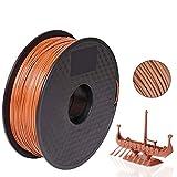 Pxmalion Holz 3D Filament PLA 1,75 mm für 3D Drucker 1 KG, Dimensionsgenauigkeit +/- 0,03 mm, Sweet...