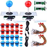 Longruner Arcade Joystick for Raspberry Pi 3 2 Model B Retropie LED DIY Parts 2X Zero Delay USB...