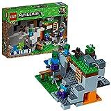 LEGO 21141 Minecraft Zombiehöhle, Bauset mit Steve, Zombie und Zombiebaby als Minifiguren,...