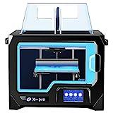QIDI TECH X pro 3D-Drucker, 4,3-Zoll-Touchscreen, Dual extruder, Unterstützungsdruck mit ABS, PLA,...