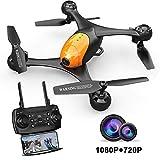 ScharkSpark Drohne SS41 Drohne mit 2 Kameras - 1080P FPV HD Kamera/Video und 720P Kamera, optischer...