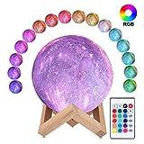 3D Sternenhimmel Mondlampe, ALED LIGHT RGB 16 Farben Raum Mondlicht 15cm Durchmesser Lunar Universum...