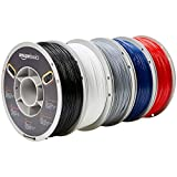AmazonBasics - 3D-Drucker-Filament aus TPU-Kunststoff, 1,75 mm, 5 verschiedene Farben, 1 kg pro...