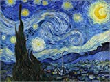 Poster 40 x 30 cm: Sternennacht von Vincent Van Gogh - hochwertiger Kunstdruck, neues Kunstposter