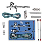 GANZTON SP180K 0,2mm / 0,3mm / 0,5mm Professionelle Airbrush Set Doppel-Action-Trigger Air-Lack...