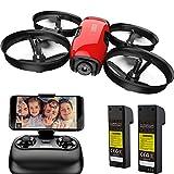 SANROCK U61W Drohne für Kinder mit Kamera, 2 Batterien, APP und Fernbedienung 720P HD FPV...