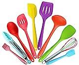 Malayas - Mehrfarbig 10 Stücke Silikon Küchenutensilien Küchenhelfer-Kochen...