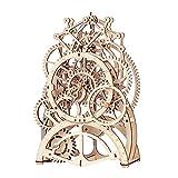Robotime 3D Holzpuzzle Uhr Mechanische - Modellbau Bastelset Technik bausatz Fuer Erwachsene-...