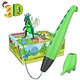 3D Stift, Tecboss 3D Stifte für Kinder, 2-Gang-Dinosaurier STEM-Spielzeug 3D Druck Stift mit Safe-...