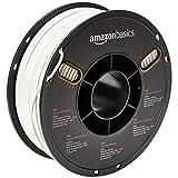 Amazon Basics - 3D-Drucker-Filament aus ABS-Kunststoff, 2,85 mm, Weiß, 1-kg-Spule
