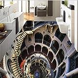 LqwxStereo, geeignet für Innen Wohnzimmer 3d-Bodenbeläge wasserfeste Selbstklebende Boden...