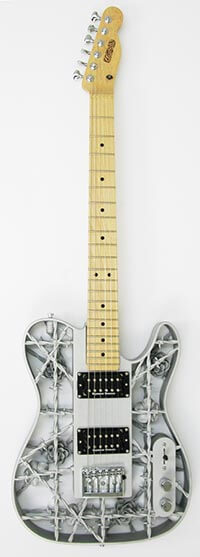 3d printed aluminium electric guitars 3d make. Black Bedroom Furniture Sets. Home Design Ideas