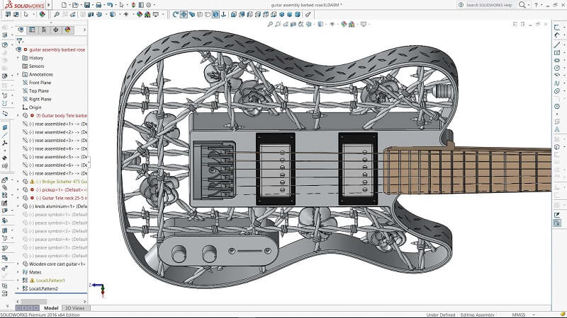 3d-modell 3d-gedruckte e-gitarre 3d model 3d printed e guitar