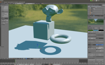 Screenshot Blender 3D-Creation-Software