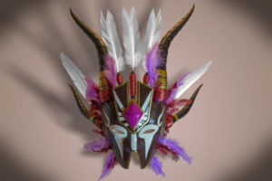 3d model mask indigenous