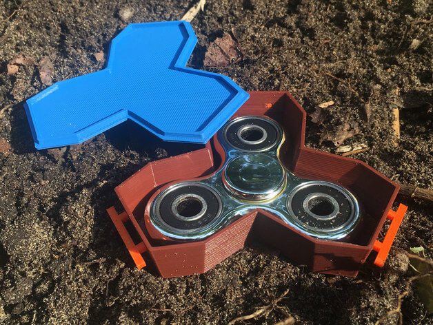 3d-modell fidget spinner sarg coffin 3d model