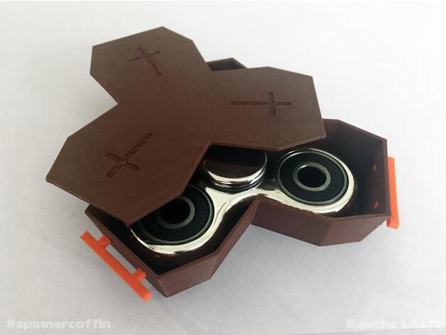 3d-modell fidget spinner sarg coffin 3d model