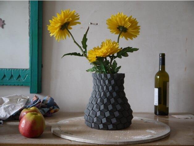 3d-modell vase bienenwabe honeycomb 3d model