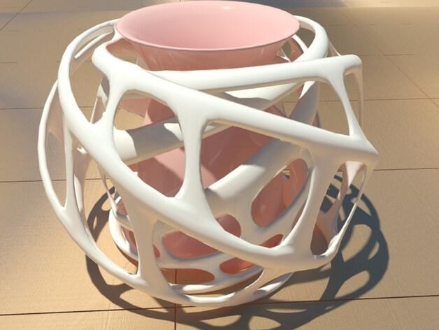 3d-modell vase voronoi 3d model