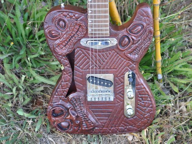 3d-gedruckte gitarre 3d printed guitar
