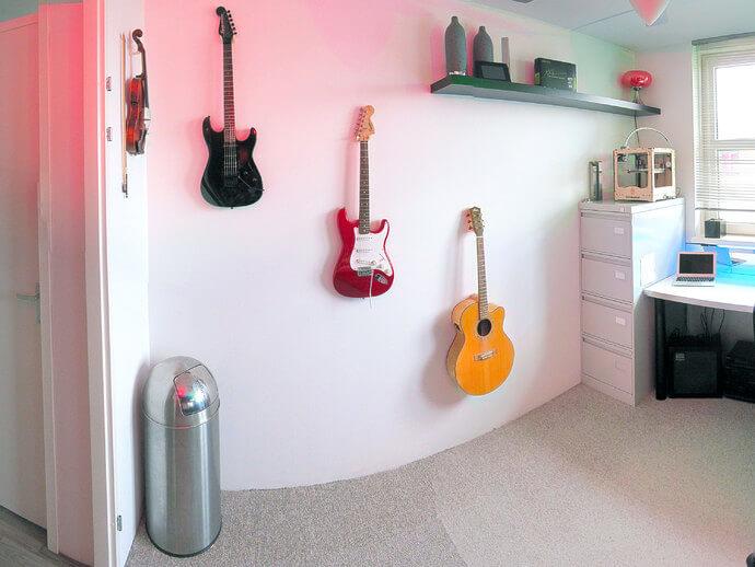 3d-modell gitarren wandhalter guitar mount