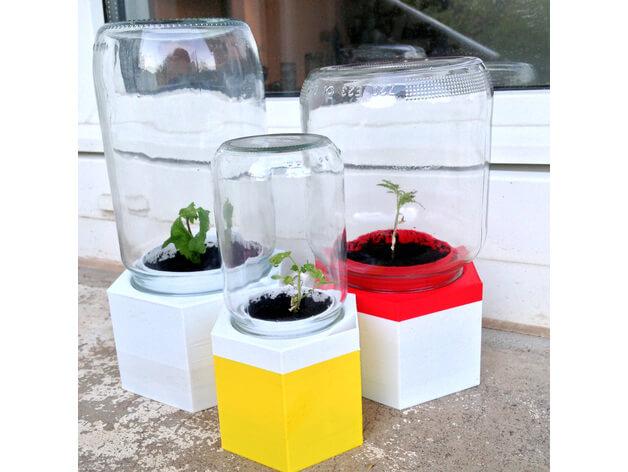 3d druck modell treibhaus 3d print model green house