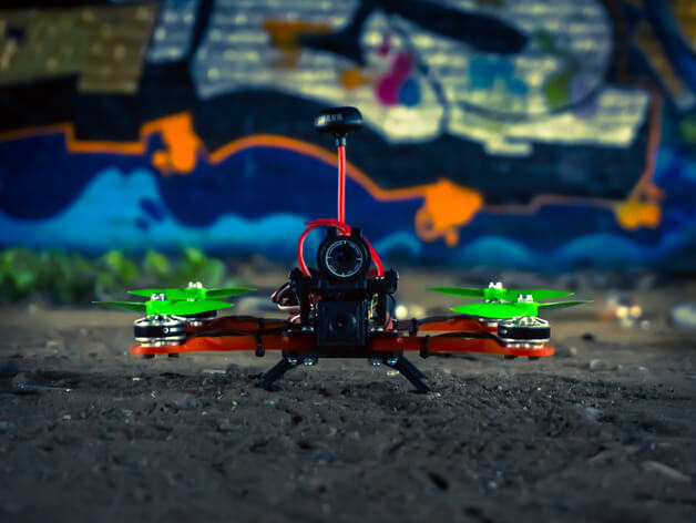 3d-modell 3d model quadcopter Hovership MHQ