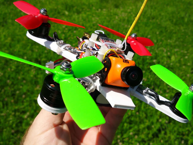 3d-modell 3d model quadcopter brushless motor