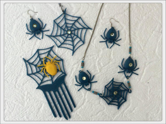 3d-modell halloween spinnen
