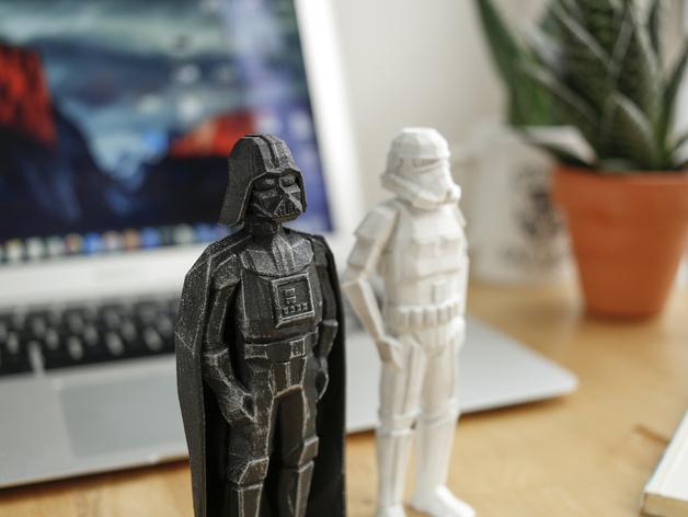 3d-gedruckte star wars figuren flowalistik 3d-printed star wars figurines