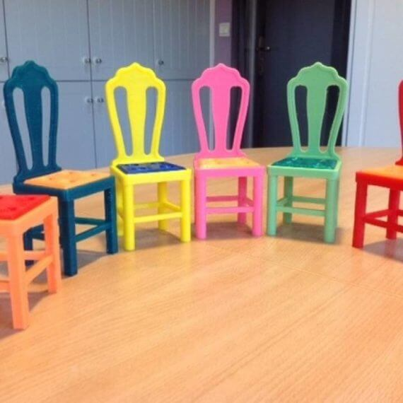 3d-modell barbie bunte stuehle chairs 3d model