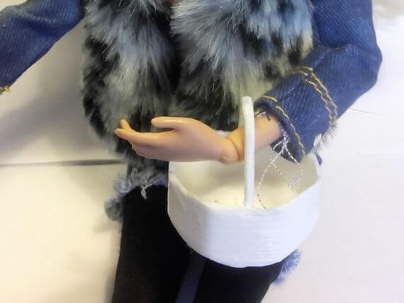 3d-modell barbie einkaufskörbchen