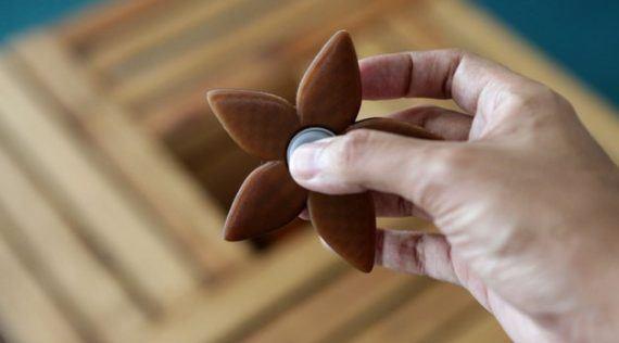 3d-modell fidget spinner blume