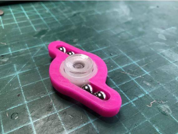 3d-modell fidget spinner kugeln