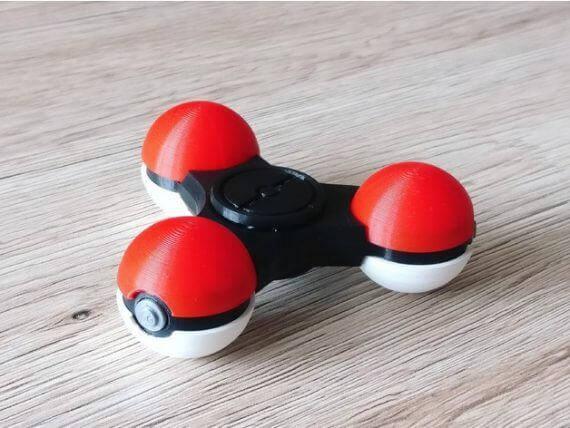 3d-modell fidget spinner poké ball