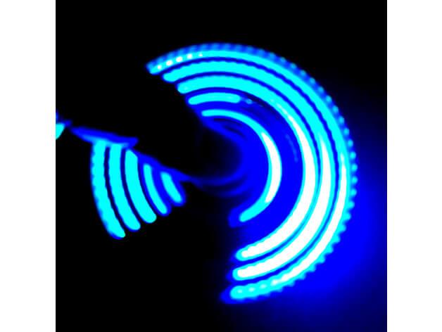 3d-modell fidget spinner regenbogen