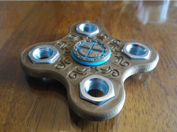 3d-modell fidget spinner steampunk