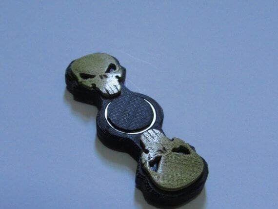3d-modell fidget spinner totenkopf