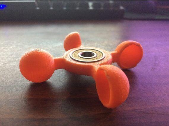 3d-modell fidget spinner windmühle