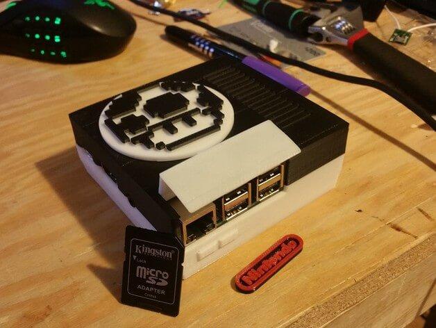 3d-modell raspberry pi mini nes