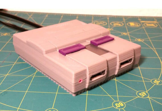 3d-modell raspberry pi mini snes