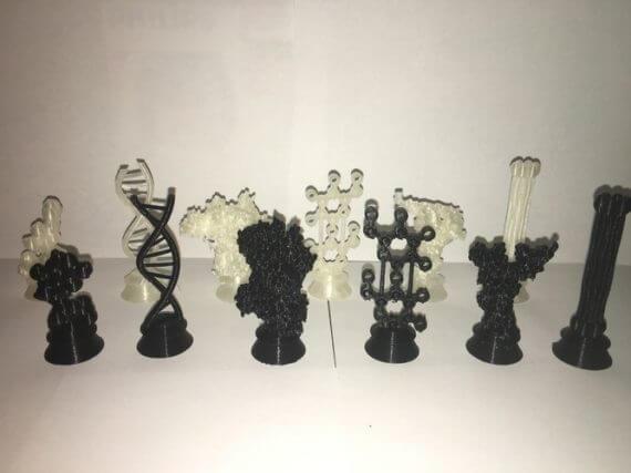 3d-modell schach biochemie