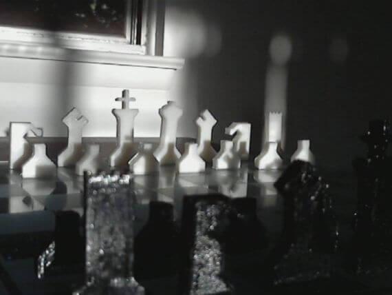 3d-modell schach ineinandergreifend