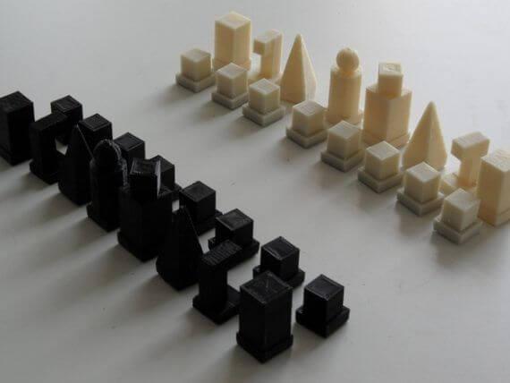 3d-modell schach minimalistisch